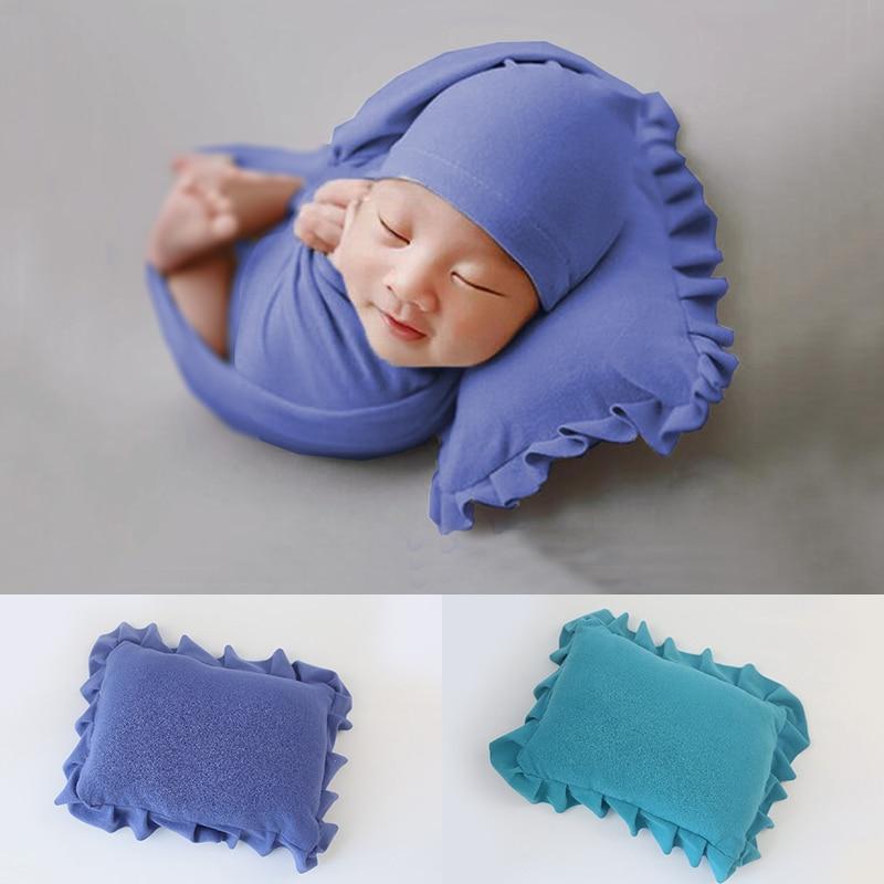 D & J 27x22 cm nouveau-né bébé affichage oreiller doux coton positionneur oreiller photographie accessoires infantile Studio Photo Shoot accessoires