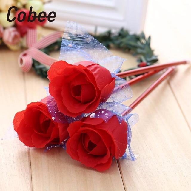Image of: Boyfriend Cobee New Fasion Beautiful 3pcs School Supplies Cute Love Rose Decor Girls Students Gel Ballpoint Pen Hot Aliexpresscom Cobee New Fasion Beautiful 3pcs School Supplies Cute Love Rose Decor