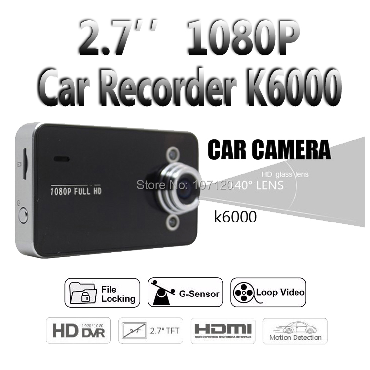 DVR Car-Recorder Black Auto LCD K6000 1 Wide-Angle High-Quality Original