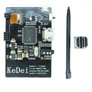 Image 5 - Nouvel écran tactile LCD 3.5 pouces 800x480, HDMI, boîtier dimpression 3D, pour Raspberry Pi, avec ventilateur de refroidissement