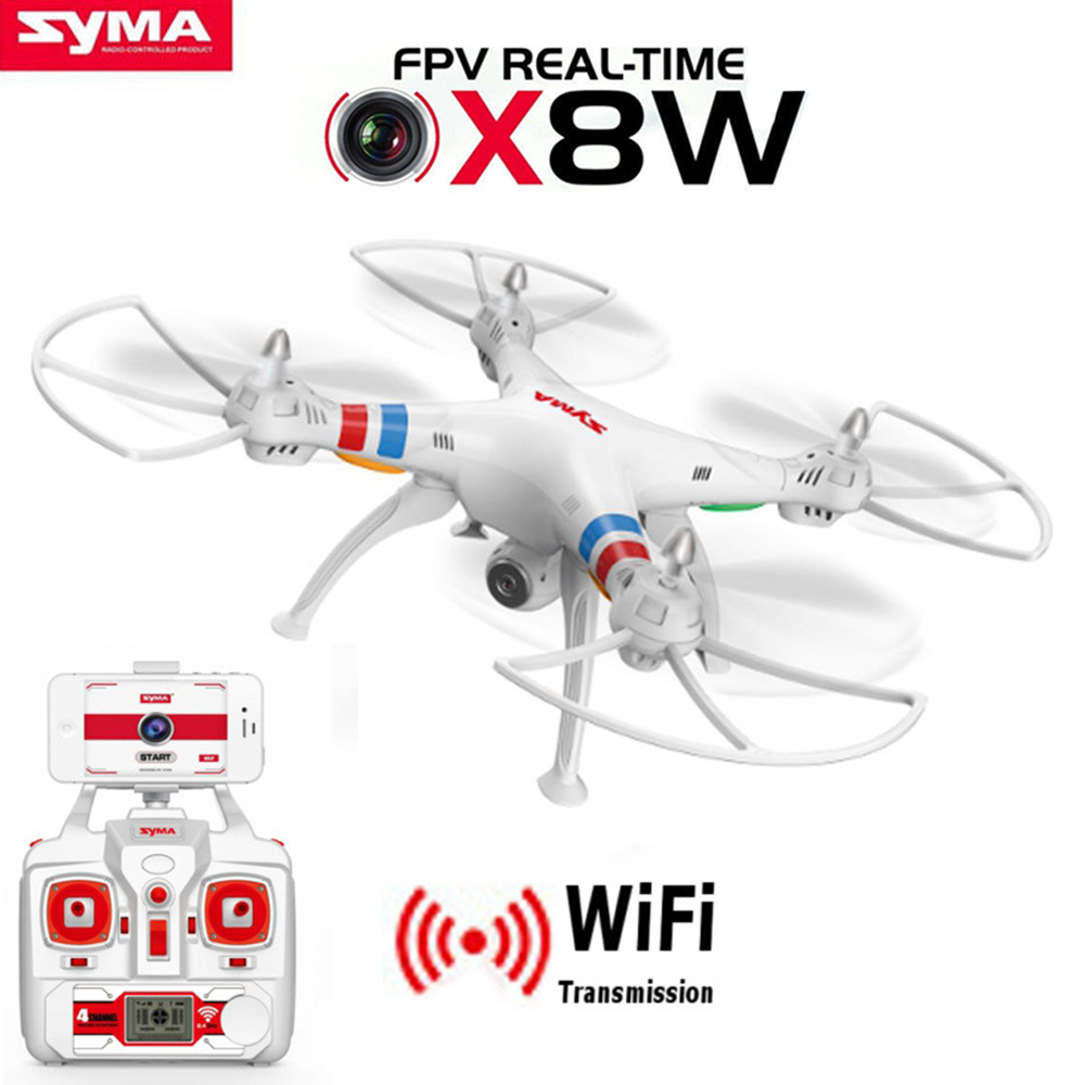 Drone quadrirotor SYMA X8W FPV RC avec caméra WIFI 2.4G 6 axes Dron SYMA X8C 2MP caméra RTF hélicoptère RC avec caméra VS X8HW