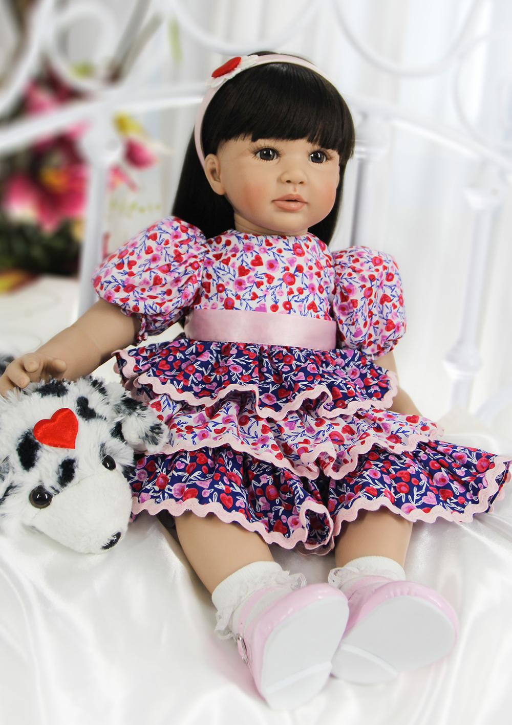 Pursue 24/60 cm New Real Looking Lifelike Princess Doll Reborn Toddler Silicone Baby Girl Doll for Girl Birthday Christmas Gift sd bjd plastic lifelike princess girl doll dressing exercise doll for kids high end christmas new year gift boutique collection