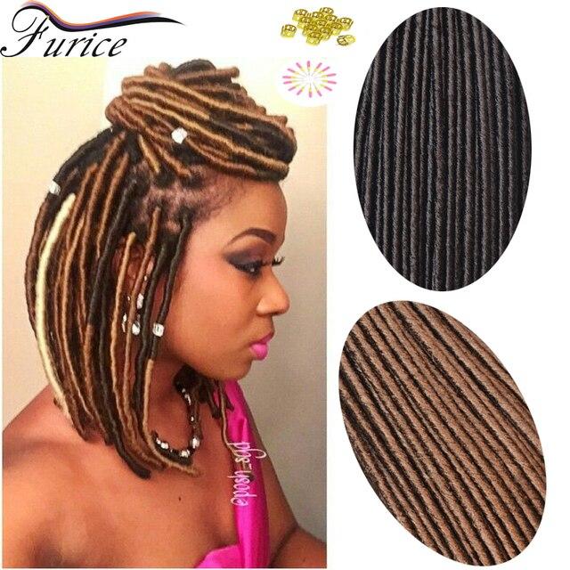 Faux Locs Crochet Braids Hair Synthetic fiber Dreadlock Beads 18 ...