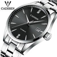 CADISEN Luxus Marke herren Business Uhr Stahl Männer Uhr Automatische Mechanische Männliche Wirstwatch Wasserdicht 50 M Relogio Masculino Mechanische Uhren Uhren -