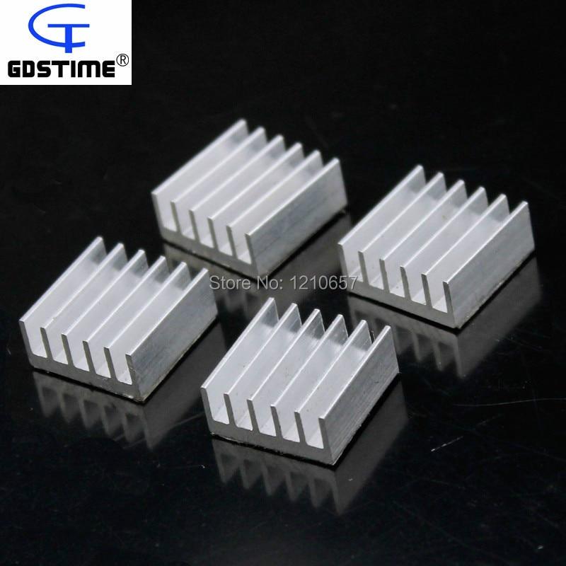 100PCS LOT Universal Chip Cooler IC Circuit Board Heat Sink Aluminium 15mm X 15mm X 6.5mm