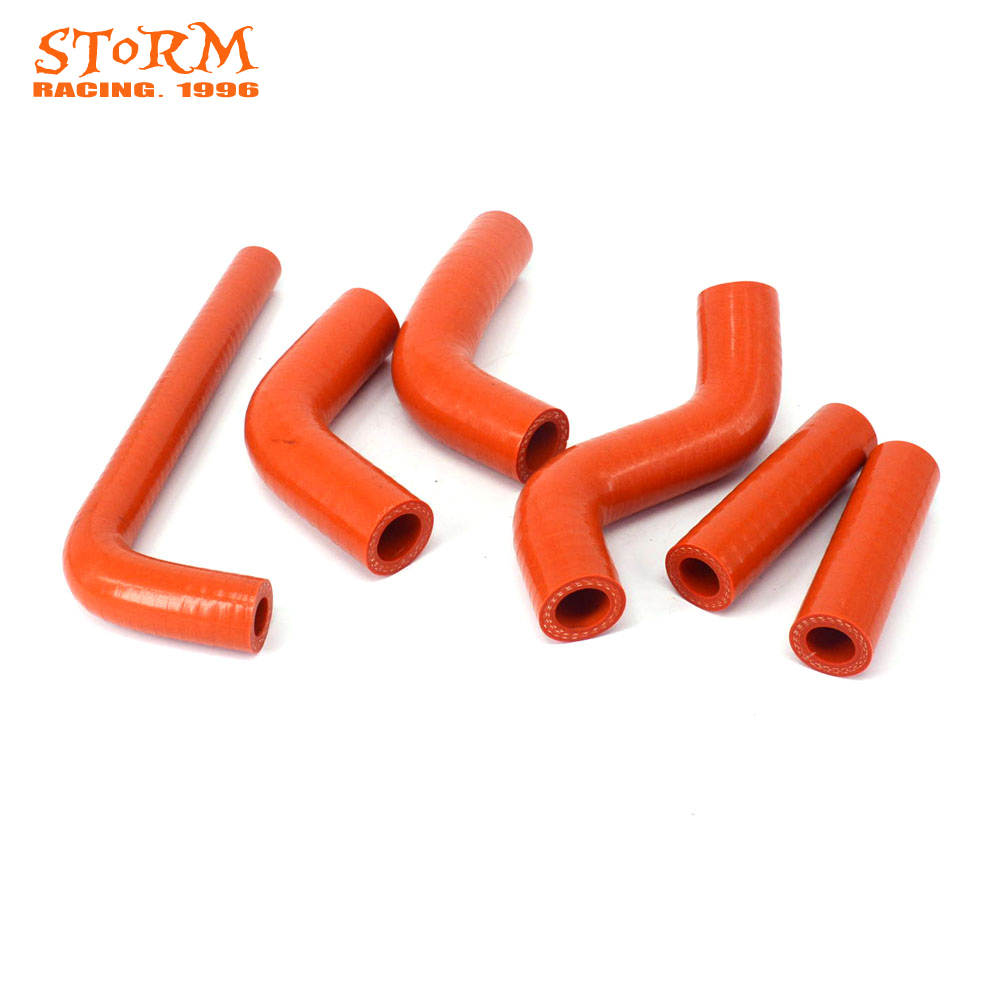 Moto Bike Orange Silicone Radiator Heater Coolant Water Hose For KTM EXC400 EXC450 EXC525 EXC 400 450 525 2002-2006 Motorcross