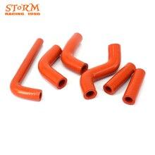 Мото-оранжевый силиконовый радиатор отопителя Хладагент водяной шланг для KTM EXC400 EXC450 EXC525 EXC 400 450 525 2002-2006 руль Fatbar