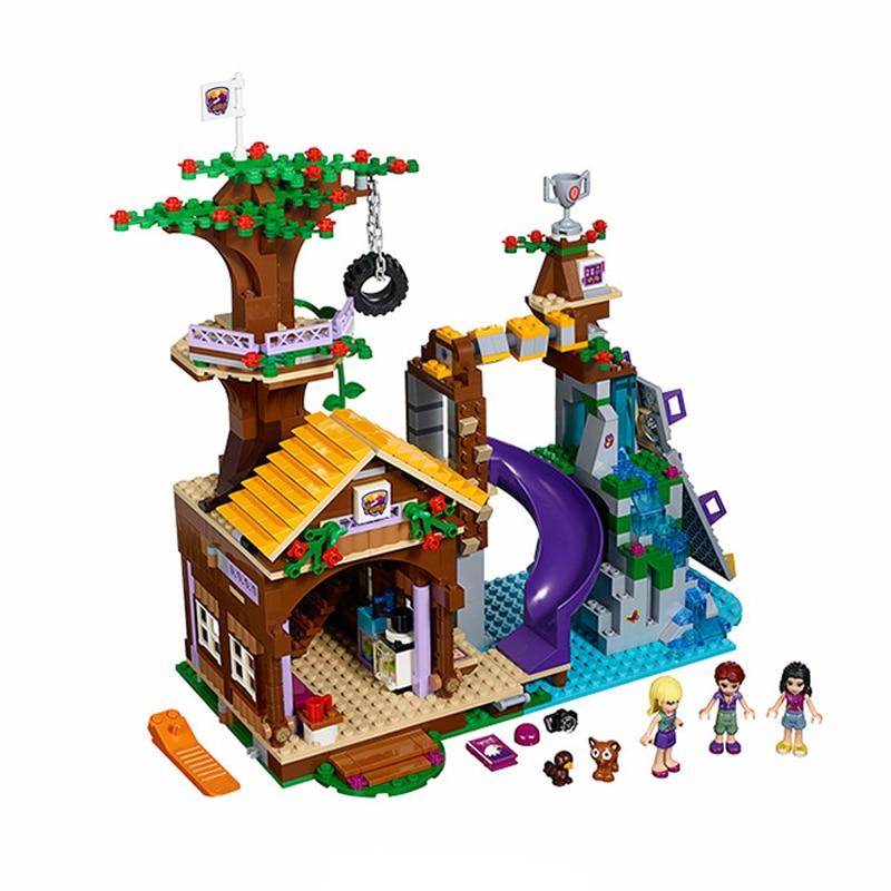BELA 10497 Adventure Camp Tree House 41122 Emma Mia Figure Building Bricks Compatible with Legoed Friends Block Toy For Children ynynoo bela 10494 compatible lepin friends heartlake supermarket 41118 building bricks emma mia figure toys for children