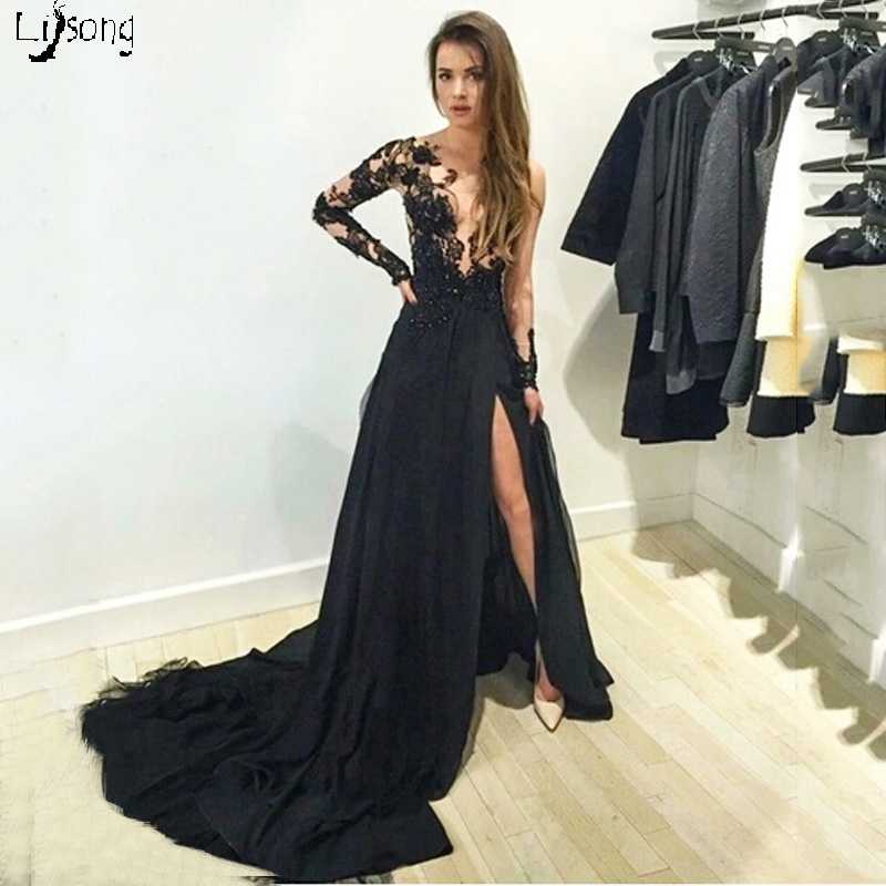 Speciale Ontwerp Hoge Been Split See Through Lange Vrouwen Prom Dress Beauty Lady Formele Maxi Jurken Vestidos Sexy Hot Girl Homecoming