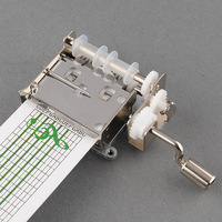 Tape Hand Crank Music Mechanical Musical Box Set With Hole Puncher 20 Note Paper Strips Make