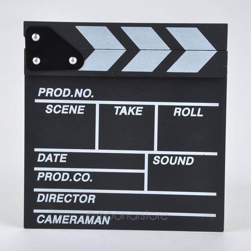 Image 2 - New hot Arrivel Cute Classical Director Video Clapper Board Scene Clapperboard TV Movie  Film Cut Prop zx*DA1144#c3-in Photo Studio Accessories from Consumer Electronics