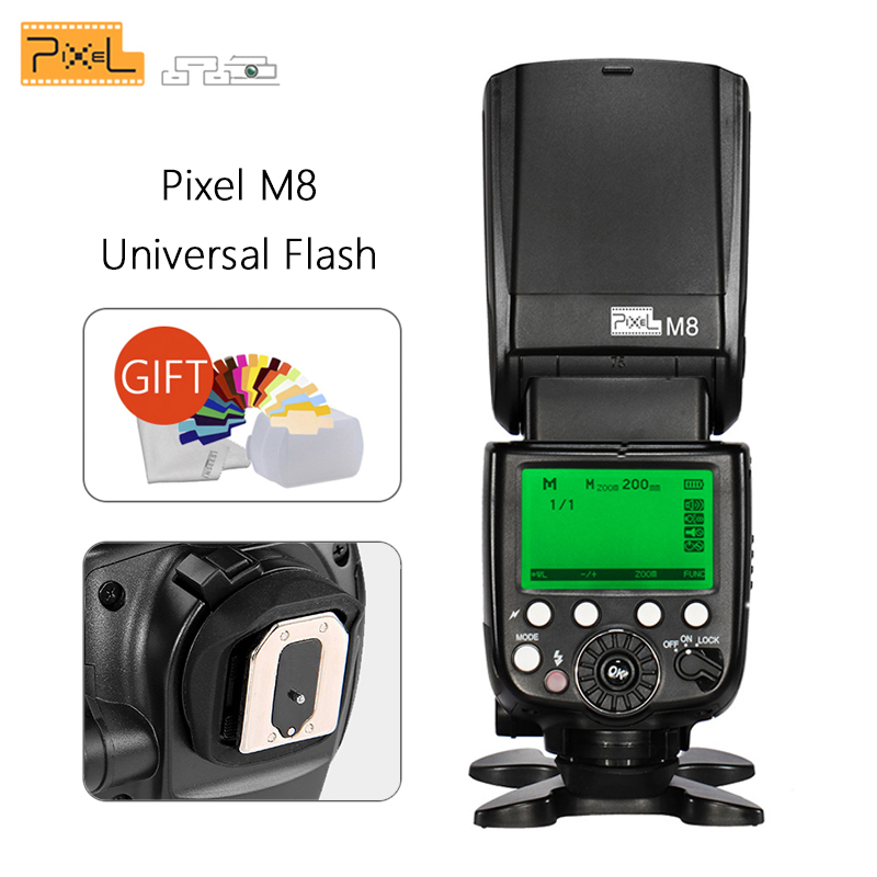 Pixel M8 Universal Flash Speedlite 2.4G Wireless Transmission with King Pro receiver For Canon Nikon Sony VS YN560 III JY680APixel M8 Universal Flash Speedlite 2.4G Wireless Transmission with King Pro receiver For Canon Nikon Sony VS YN560 III JY680A