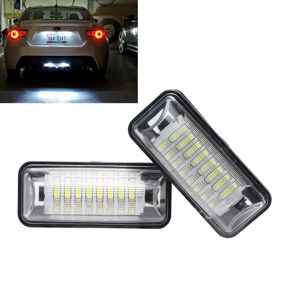 2017 New model Error Free 24 SMD 3528 LED License Plate Light Lamp For BRZ (DBA-ZC6) Legacy for Toyota 86 GT-86 FT-86 (NC6) 2pcs error free led smd license plate light for toyota land cruiser lexus gx lx470 new dropping shipping