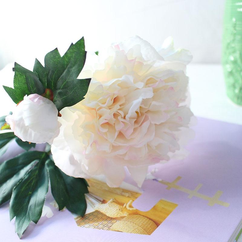 Silk peonies roses artificial flowers (26)