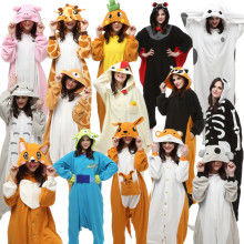 Adults Kigurumi Halloween Carnival Costumes Onesie Alien Bat Carrot Cock Dog Giraffe Rilakkuma kangaroo Koala Raccoon Skull(China)