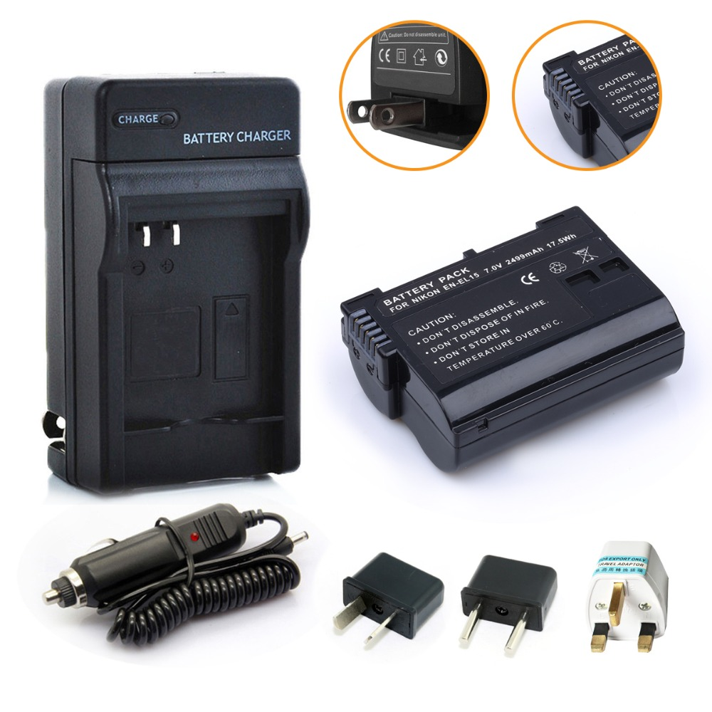 Probty EN EL15 EN EL15 Battery Charger Kit for Nikon 1 V1 D600 D610 D750 D800