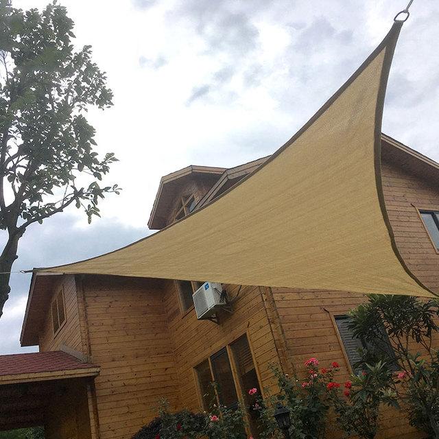 Portable sun shade Awning Polyester Fabric UV Moisture Proof Camping Cloth Shade Sail Shade Canopy Gazebo