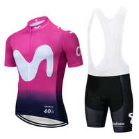 2019 RED MOVISTAR cycling TEAM jersey 20D bike shorts Ropa Ciclismo MENS summer quick dry pro BICYCLING Maillot bottom wear