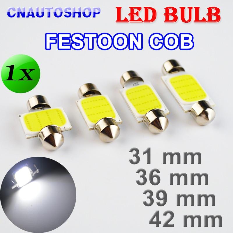 Flytop 31mm 36mm 39mm 42mm COB FESTOON Car Bulb 12 Chips C5W 12V White Color LED Bulb Dome Light