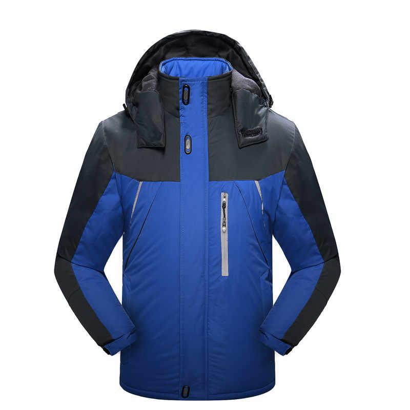 Winter Thermische Ski Anzug Männer Frauen Winddicht Snowboard Skifahren Jacken Outdoor Wandern Trekking Klettern Mit Kapuze Mäntel M-6XL