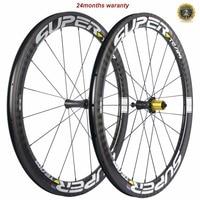 Superteam Carbon Wheelset R7 ceramics Road Clincher 50mmX25mm width U Shape Wheels Bike Road Wheels Bicycle Wheel