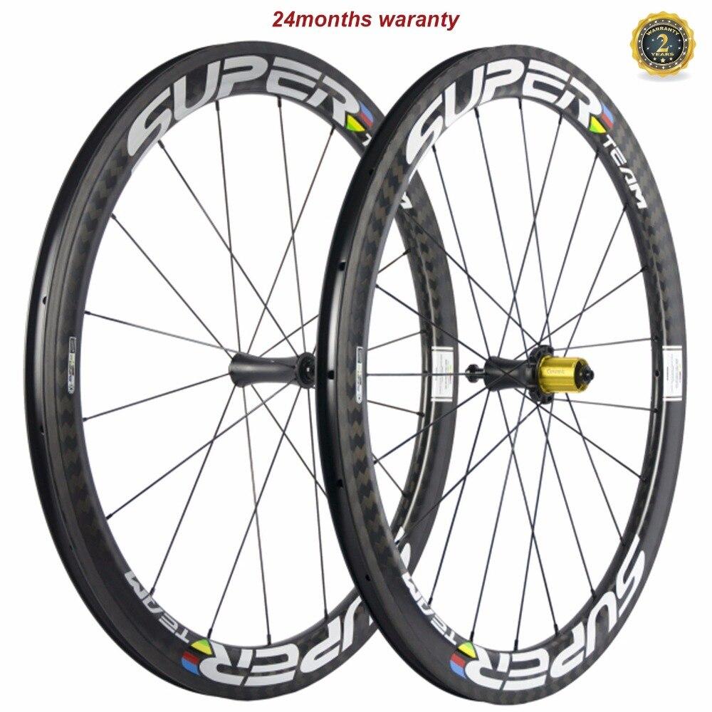 Superteam carbone roues R7 céramique route pneu 50mm X 25mm largeur U forme roues vélo route roues vélo