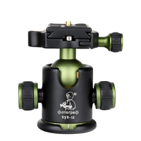 DPOTORPADP SYS10 Aluminum 360 Camera Tripod Ball Head Panoramic Heads With Quick Release Plate 3/8 Screw Mount Max Load 10KG