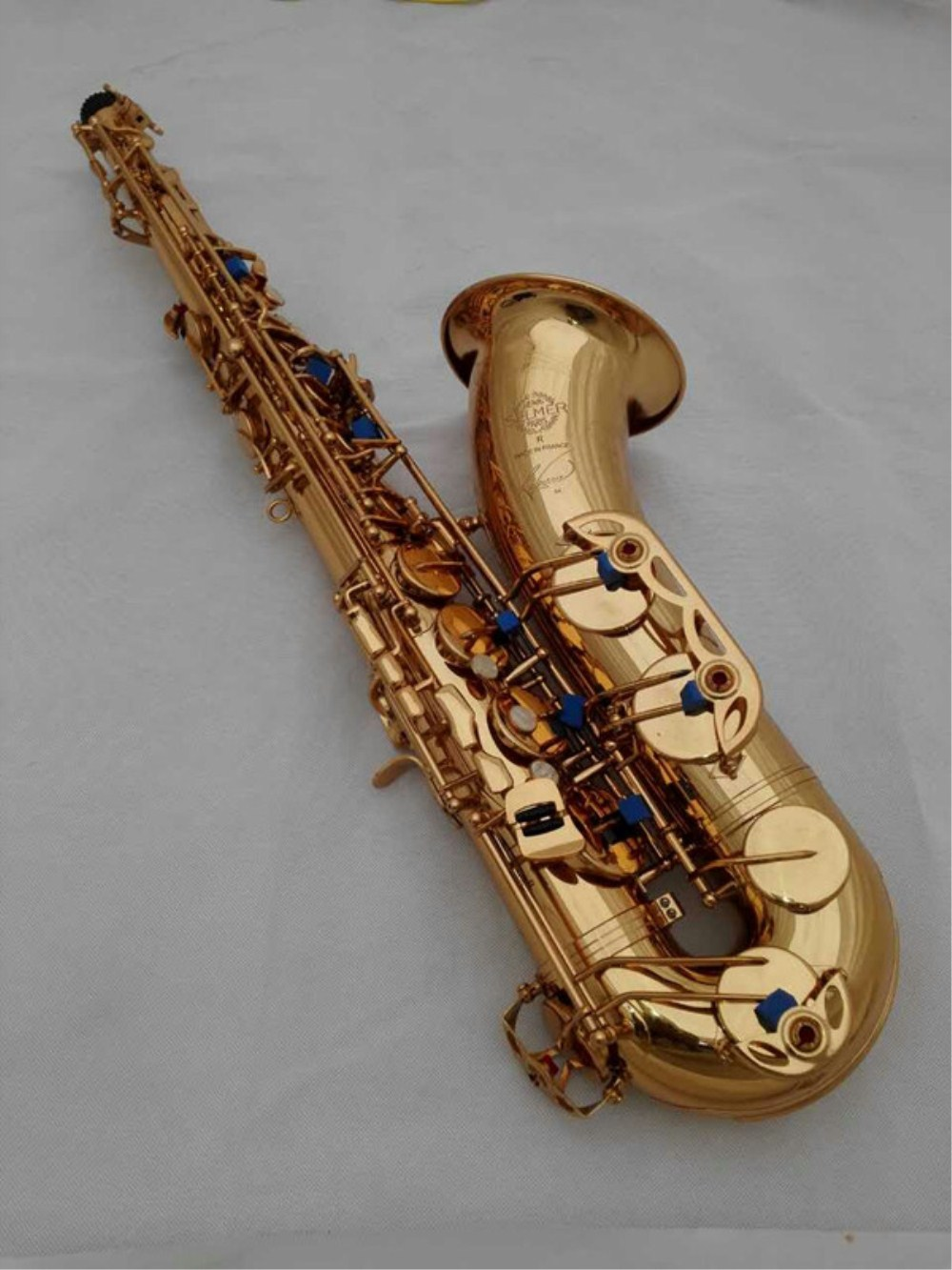 New High quality French Selmer 54 Tenor Saxophone Top Musical Instrument Sax Gold Tenor saxophone Professional tenor sax instruments 54 b selmer tenor saxophone musical instrument electrophoresis gold saxophone professional grade