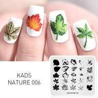 KADS Natur 006 Aufdruck Blätter Indus Ahorn Maniküre Platte Vorlage Nagel Schablone Stempel Nagel Kunst Stanzen Platte