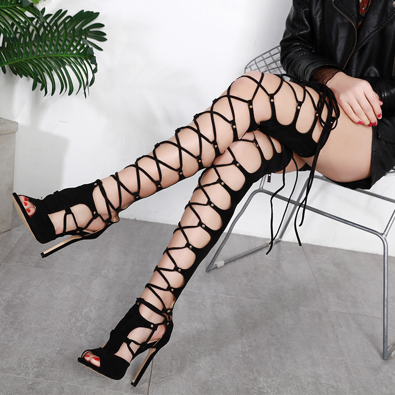NEW women over the knee boots high heel sexy spring and autumn zipper pointed toe fashion shoes Handmade boots solid black цена