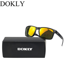 Dokly brand men sunglasses fashion sunglasses Designer Helm Multicolour Coating Lens Sunglasses Men Oculos De Sol