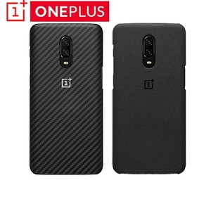 Image 1 - Original OnePlus 6T Karbon Case Material Aramid fiber PC Half round Back Cover Shell Sandstone Carbon Official For OnePlus6T