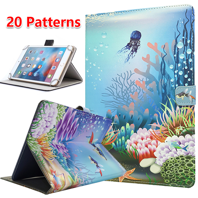Universal cartoon Case for Alcatel 1T 10 Wi-Fi tablet PU Leather protective cover case + Free 3 GiftUniversal cartoon Case for Alcatel 1T 10 Wi-Fi tablet PU Leather protective cover case + Free 3 Gift