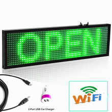 все цены на 12v Car bus truck P5 LED Message Display Board Green Mobile phone Wifi Programmable Scrolling Advertising Moving Green LED Signs онлайн