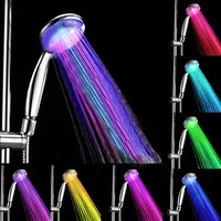 7 Color Changing Hand Hold Shower Head LED Romantic Light Water Home Bathroom Spray Head Faucet Glow chuveiro do banheiro ducha