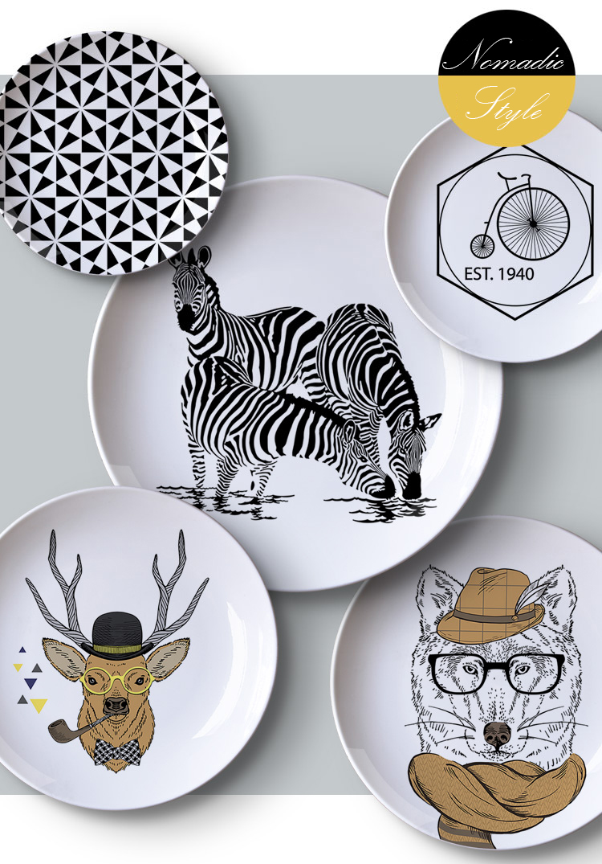 Come Appendere Piatti In Ceramica us $13.8 |aqumotic decorativo piatti per appendere a parete nordic piatto  in ceramica cremagliera 1 pz inviare gancio nero bianco griglia di disegno