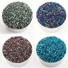 1000PCS/Pack Hot Sale 18Colors Cylindrical Glass Diameter 2mm DIY For Necklace Bracelets Loose Beads