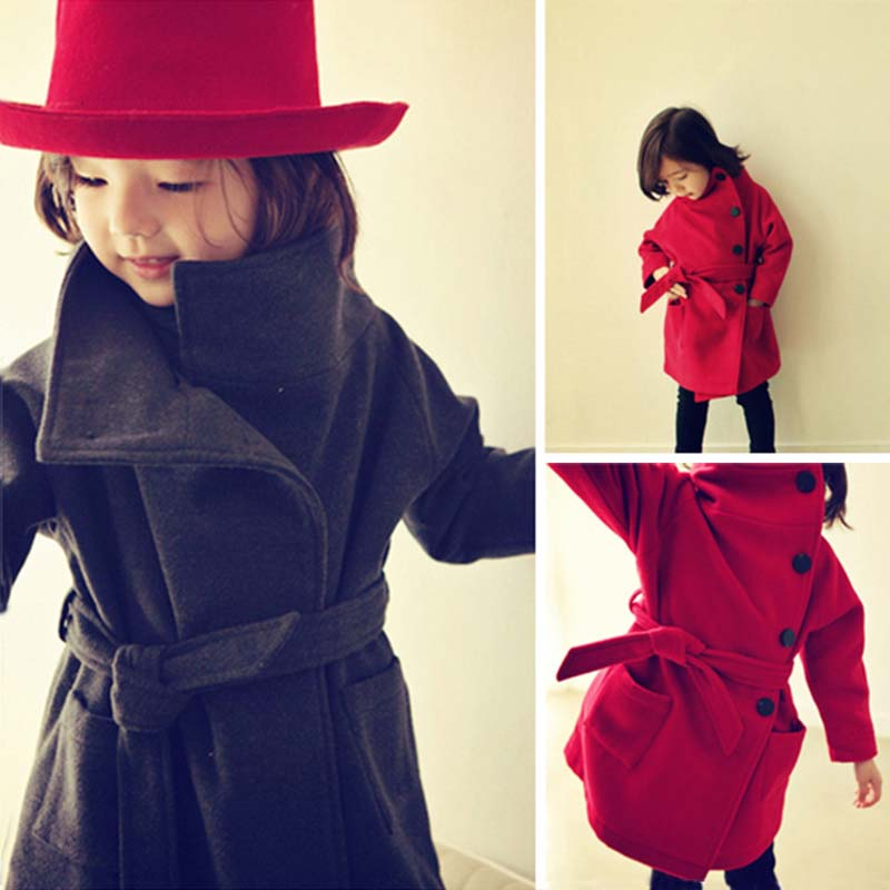 Girls Winter Coats and Jackets Fashion Girls Wool Coats Warm Kids Clothes Overcoat 3-15 Years Children's Clothing Winter Jackets 2018 new fashion suede lamb wool women coats double breasted warm solid thick long overcoat casual winter cotton jackets female