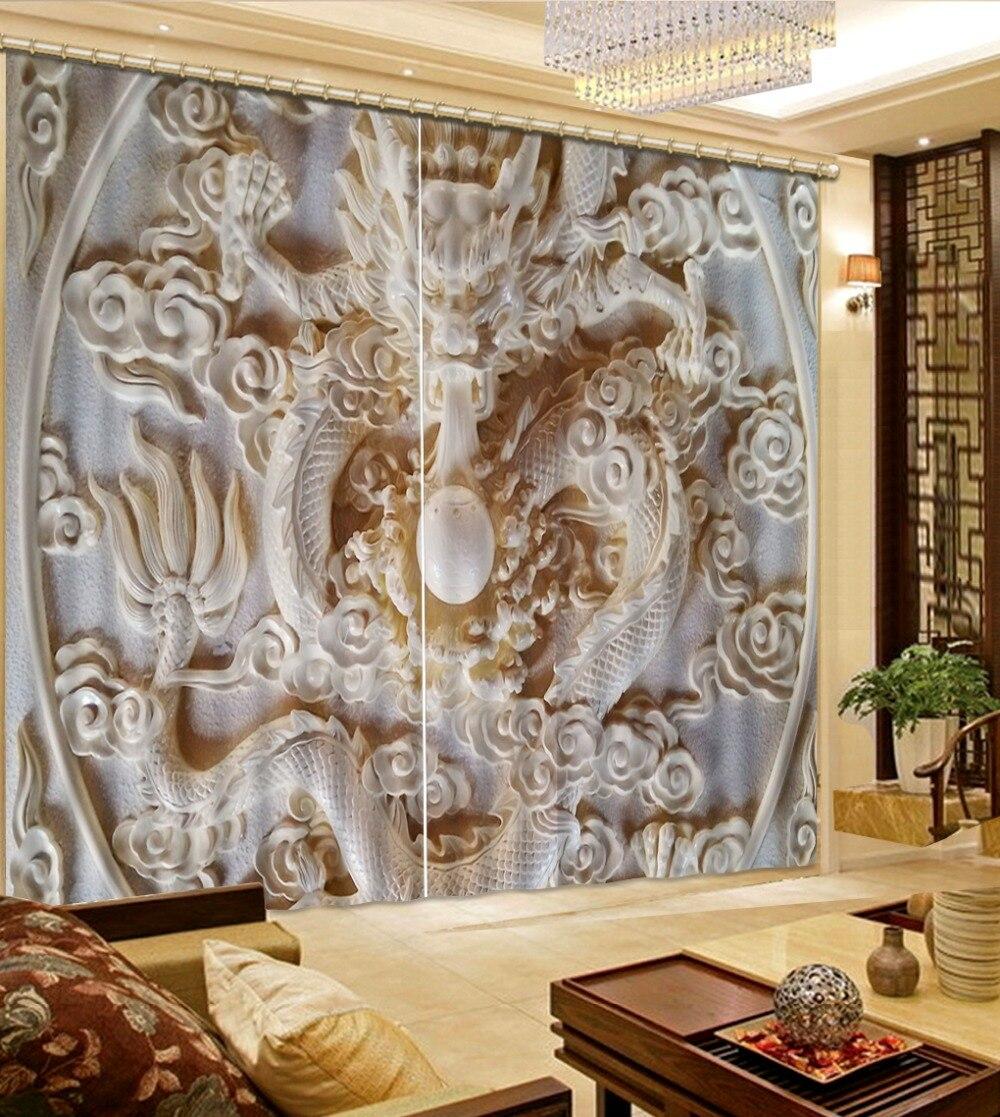 Home Decor Гостиная Природный Искусство трехмерная Постельные Принадлежности 3D Занавески