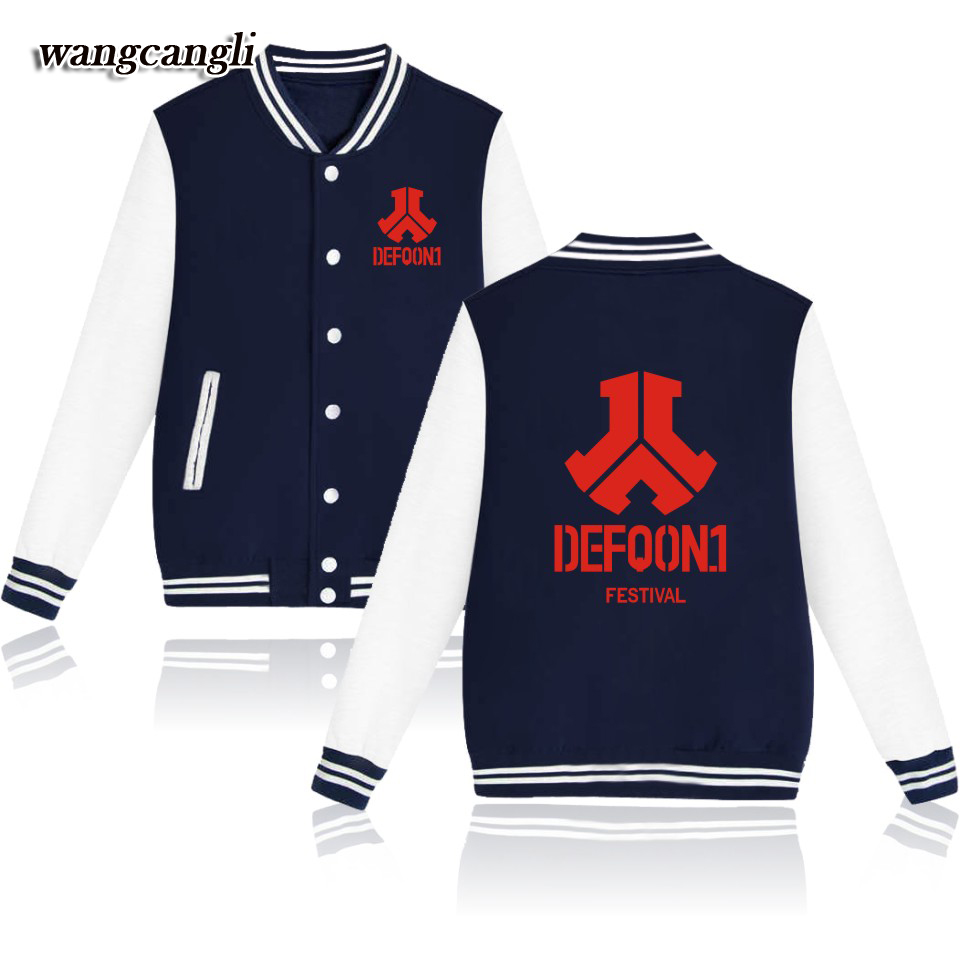 Tomorrowland Music Festival defqon.1 2017 Jacket College Women for Winter Autumn Coat Women/Men Baseball Jacket XXS-4XL