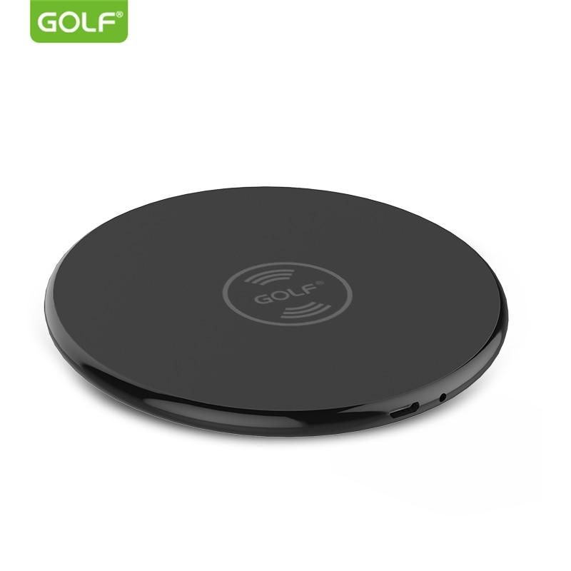 GOLF Qi Carregador Sem Fio para iPhone 8 Plus X XS Max XR Telefone Sem Fio Universal Charging Pad para Samsung S6 s7 S8 S9 S10 Plus