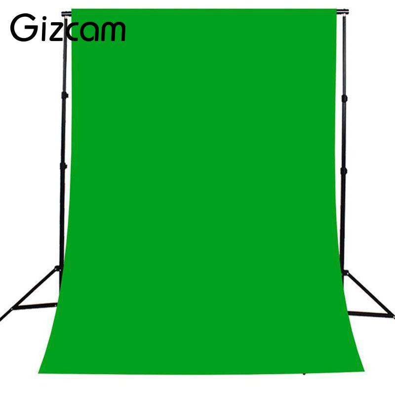 Gizcam 2x3M Wall Photography Background Green Screen Photo Backdrops Lighting Studio Non-woven Material 5 x 10ft vinyl photography background for studio photo props green screen photographic backdrops non woven 160 x 300cm