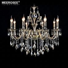hot deal buy luxury crystal chandelier light fixture good quality lustres suspension lampara de techo dining room living room lighting