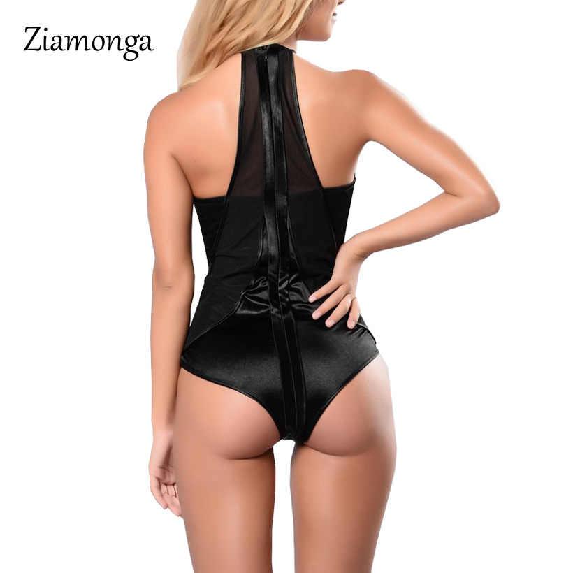 Ziamonga Боди женские боди костюмы для женщин сексуальные комбинезоны боди Топ женские сексуальные с открытыми плечами сетчатые боди повседневные Комбинезоны