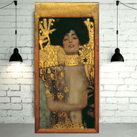 Top Supplier Wholesale High Quality Impression Portrait Oil Painting Hand painted Gustav Klimt Judith Oil Painting On Canvas