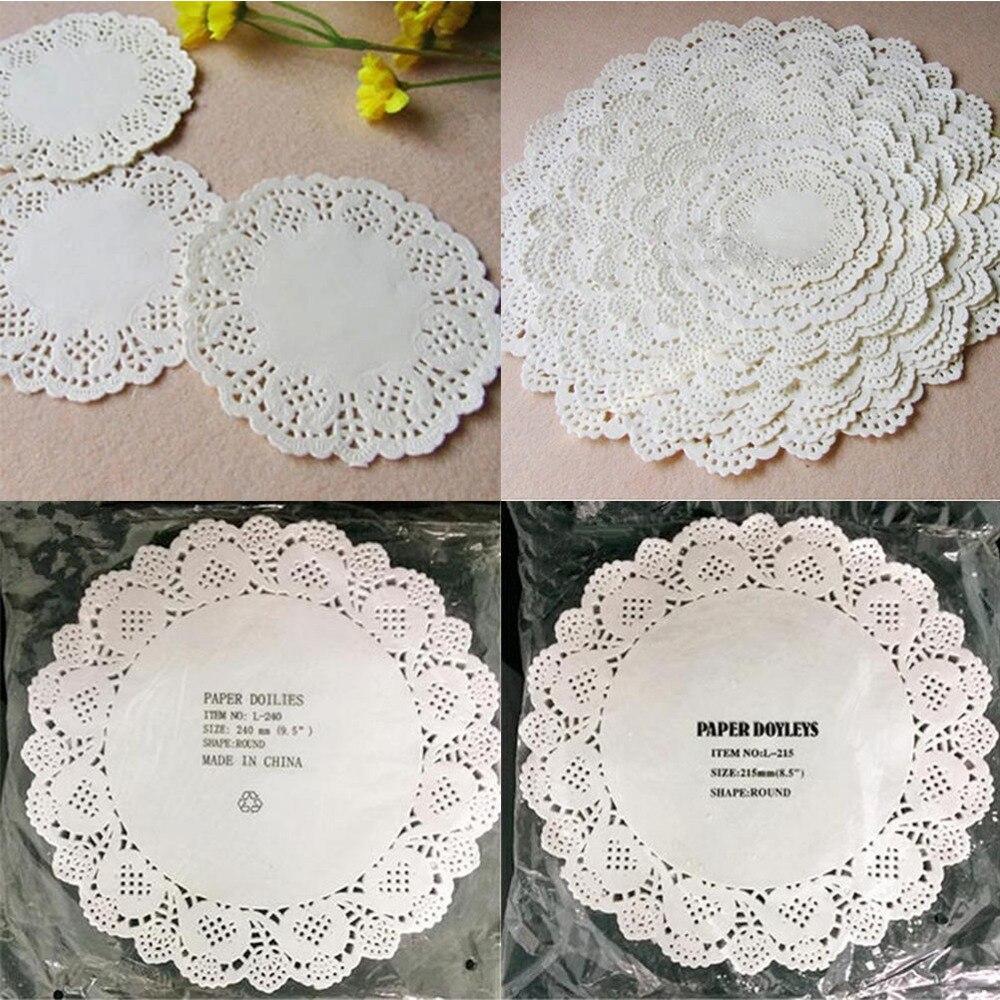 Aliexpress Buy 100pcs Cute Round Lace Paper Doilies Craft Cake