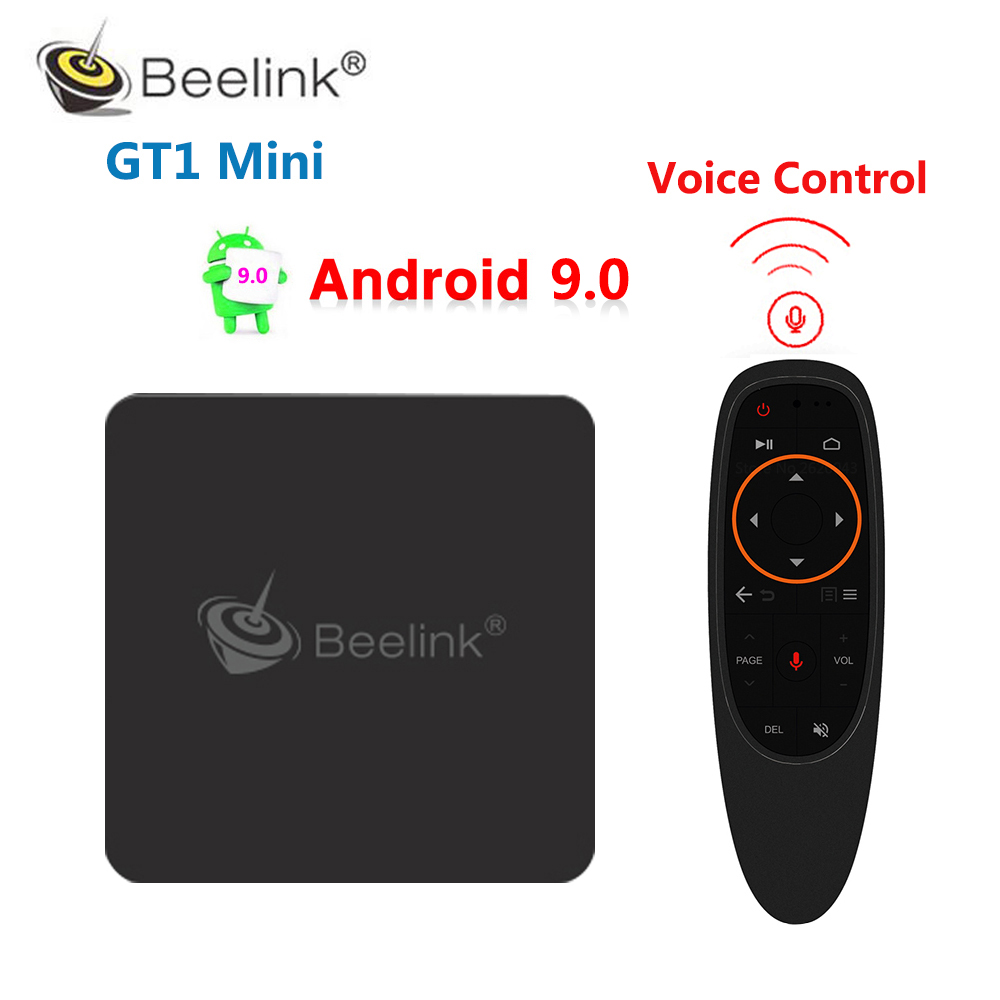 GT1 MINI 4GB DDR4 64GB ROM Smart Android 9.0 TV Box Amlogic S905X2 Quad Core 1000M 2.4G 5G WiFi Bluetooth 4K HD lecteur multimédia 8.1