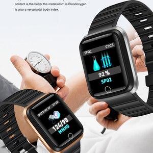 Image 5 - Fashion SmartWatch Mannen vrouwen Hartslagmeter Bloeddruk Tracker Fitness tracker Sport Waterdicht Smart horloge Voor iPhone