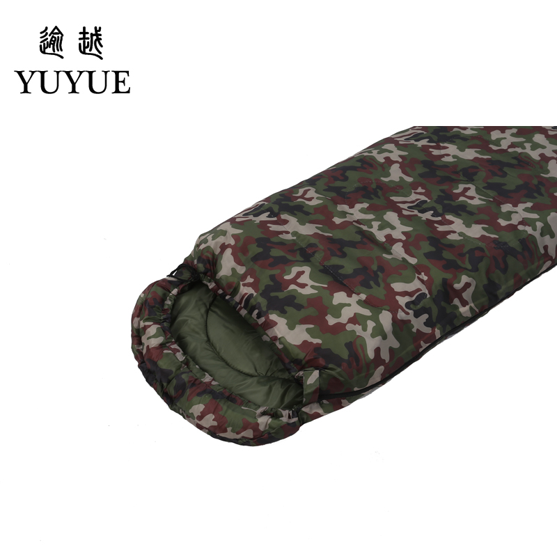 Outdoor military 3 season camouflage sleeping bag cotton for camping tent envelope type equipment for a hundred sleeping bag 2