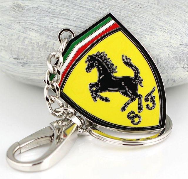 SF Ferrari Logo Metal Keychain